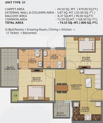 800 sq ft 2 bhk 2t apartment for sale in gaursons anmol sector 19