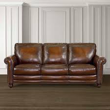 Living Spaces Furniture by Hamilton Sofa Leather Living Room Bassett Furniture