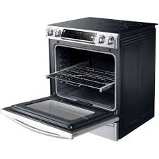 amazon com samsung ne58f9710ws slide in electric range with
