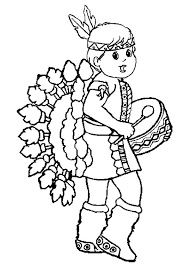 thanksgiving indians pilgrim and indian thanksgiving coloring