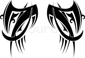 graphic tribal tattoo wings vector illustration stock vector