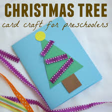 toddler approved christmas tree card craft for preschoolers