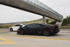 matte black lamborghini matte black lamborghini huracán by gmg racing and audi r8 on road