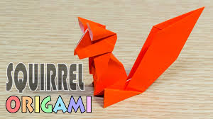 origami squirrel simple and easy paper chipmunk youtube