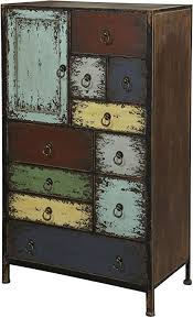10 Drawer Cabinet Amazon Com Powell Furniture Parcel 1 Door 10 Drawer Accent Chest