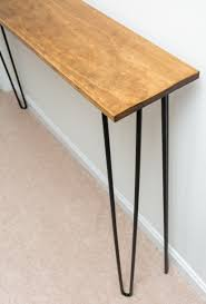 hairpin leg console table leftover pine diy hairpin leg console table by brittany goldwyn