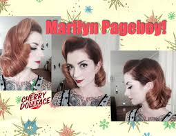 over 50s hairstyles page boy for women short vintage hair tutorial marilyn monroe inspired page boy by