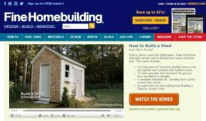 fine homebuilding login 8 best plans on how to build a shed easily