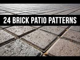24 brick patio patterns and designs youtube