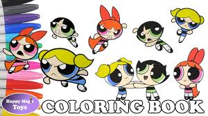 powerpuff girls coloring book pages compilation 7 buttercup
