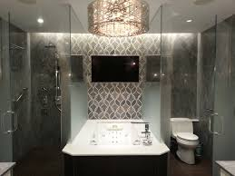 tile accent wall bathroom contemporary with artistic tile bathroom