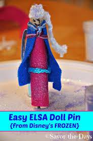 savor the days elsa doll pin easy activity for kids