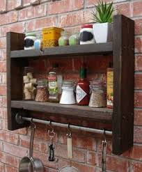 Kitchen Wall Shelf Industrial Rustic Kitchen Wall Shelf Spice Rack With 24