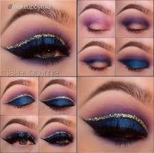 party eye makeup for light blue dress image