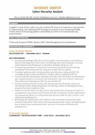 security analyst resume hitecauto us