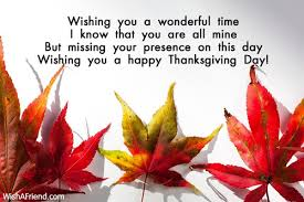 wishing you a wonderful time i thanksgiving message