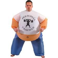 Sumo Halloween Costume Personal Trainer U2013 Inflatable Costume