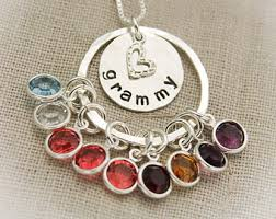 grandmother necklaces clever design ideas grandmother necklace with birthstones etsy s