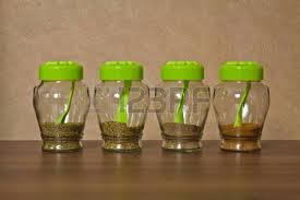 glass canisters for kitchen closed glass jar kitchen storage spices stock photo picture and