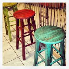 How To Paint Wooden Chairs by Painted Stools With Glaze Brushed On Beautifulsalvage I So