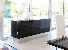 Black Gloss Sideboards Unico Contemporary 3 Door High Gloss Black Sideboard
