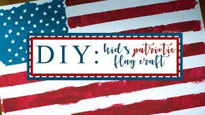 kids patriotic flag craft toddler independance diy youtube