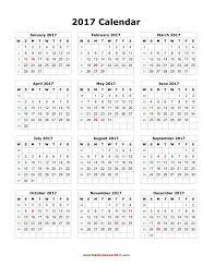 free downloadable calendar template blank calendar 2017