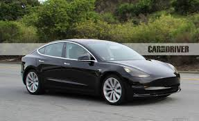 tesla electric car spied 2017 tesla model 3 electric vehicle news car and driver