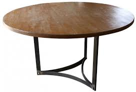 custom round dining tables furniture modern reclaimed round shape dining table with rod square