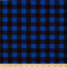 flannel buffalo plaid blue black discount designer fabric