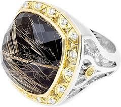 onyx engagement rings tacori 18k925 rutiliated black onyx diamond ring sr101y15