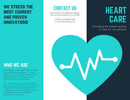 healthcare brochure templates free turquoise vector brochure templates by canva