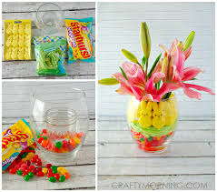 Easter Decorations In A Vase by Peeps U0026 Jelly Bean Easter Vase Centerpiece Crafty Morning