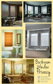 best shades shutters and blinds for bathroom window privacy