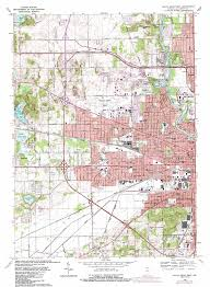 Indiana Road Map South Bend West Topographic Map In Usgs Topo Quad 41086f3