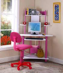 desk wondrous kings brand pink finish corner workstation kids