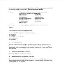 free template for meeting minutes format 7 free meeting minutes