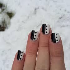 black and white simple nail design nail art pinterest black