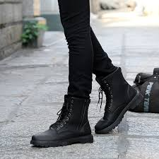 fashion s shoes retro combat boots winter