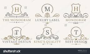 retro royal vintage shields logotype set stock vector 579052210