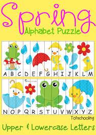 free spring alphabet puzzle totschooling toddler preschool