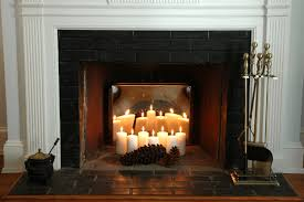 Home Design Inside by Candles Inside Fireplace