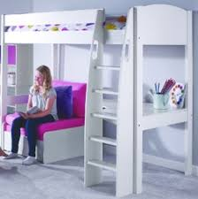 Stompa Bunk Beds High Sleeper Child S Stompa Bed White With Corner Desk