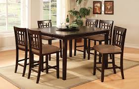 amazon com furniture of america madison 7 piece counter height amazon com furniture of america madison 7 piece counter height table set with removable lazy susan and 18 inch leaf dark cherry finish table chair