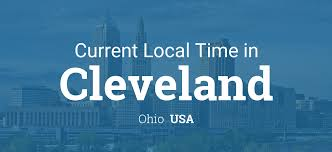 Ohio Us Map by Current Local Time In Cleveland Ohio Usa