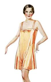 1920s lingerie history slips steps ins robes night gowns and
