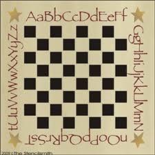 primitive board stencils checkerboard chess