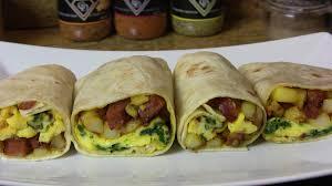 potato egg u0026 smoked sausage breakfast burrito an easy breakfast