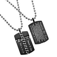 armor of god necklace christian dog tag cross necklace ephesians 6 armour of god black