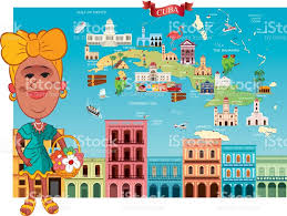 Map Cuba Cartoon Map Of Cuba Stock Vector Art 642588384 Istock